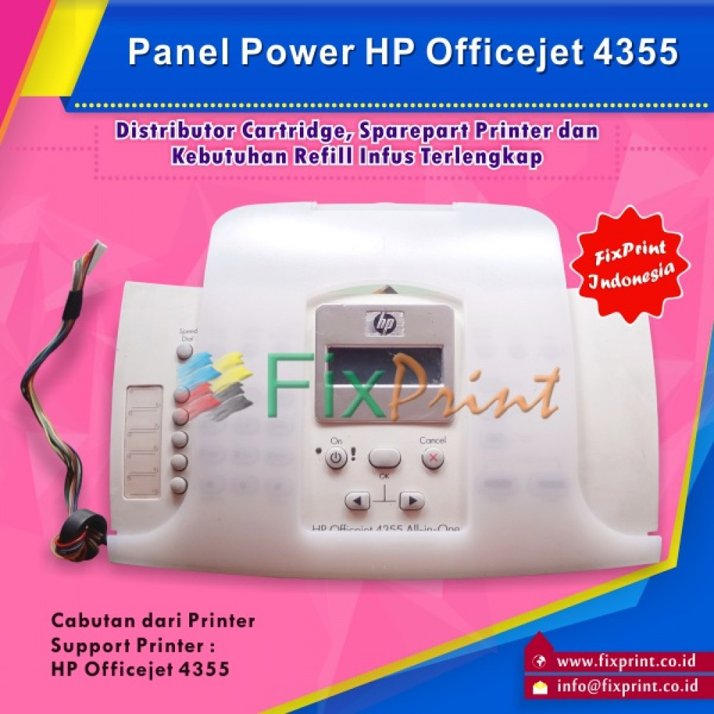 Panel Power HP Officejet 4355 All-in-one Bekas Like New