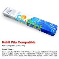 Refill Pita Long Life Epson LQ1050 LQ1050+ LQ1070 LQ1170 LQ200 LQ400 LQ450 LQ500 LQ510 LQ550 LQ570 LQ570+ LQ800 LQ850 LQ850+ LQ870 LQ1000 LQ1010 Action Printer 3000 4000 4500 5000 5000+ 5500 L-1000 L-750