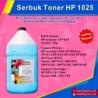 Serbuk Toner HP 1KG Cyan 1025 CP1025nw CP1215 CP1515 CP1525 CP2025 M175nw M275, CE311A 126A Canon 328 329 729  LBP7510, LBP7518, LBP7510C, LBP7518C, LBP7018C