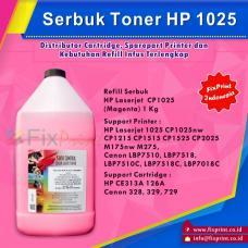 Serbuk Toner HP 1KG Magenta 1025 CP1025nw CP1215 CP1515 CP1525 CP2025 M175nw M275, CE313A 126A Canon 328 329 729 LBP7510, LBP7518, LBP7510C, LBP7518C, LBP7018C