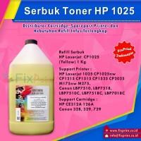 Serbuk Toner HP 1KG Yellow 1025 CP1025nw CP1215 CP1515 CP1525 CP2025 M175nw M275, CE312A 126A Canon 328 329 729 LBP7510, LBP7518, LBP7510C, LBP7518C, LBP7018C