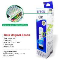 Tinta Refill Epson Original 001 Cyan 70ml C13T03Y200, Tinta Refill Printer Epson L4150 L4160 L6160 L6170 L6190