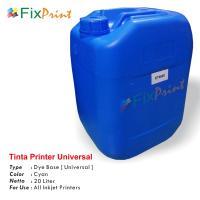 Tinta Refill Galon Universal Cyan 20 Liter, Tinta Printer Galon Dye Base