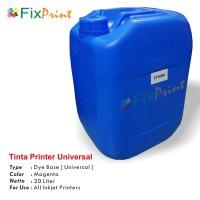 Tinta Refill Galon Universal Magenta 20 Liter, Tinta Printer Galon Dye Base