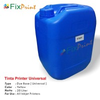 Tinta Refill Galon Universal Yellow 20 Liter, Tinta Printer Galon Dye Base