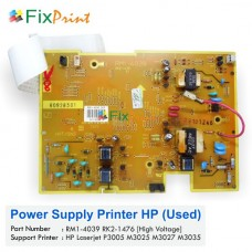 Power Supply HP Laserjet P3005 M3025 M3027 M3035 High Voltage Used, Part Number RM1-4039 RK2-1476 Used