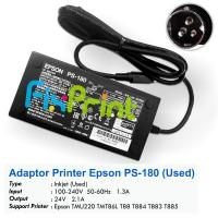 Adaptor Printer Epson PS-180 TMU220 TMT86L T88 T884 T883 T885 Used, Power Supply Printer TM-U220 TMT86L TM-T88 TM-T88IV TM-T88III TM-T88V
