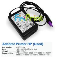 Adaptor Printer HP Deskjet 2060 1050 k209 OJ4500 F735 D2566 D2666 D2000 D1000 2050 Used Konektor Ungu, Power Supply HP D1050 30 Volt, Part Number 0957-2286 0957-2398