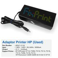 Adaptor Printer HP Officejet 2710 7208 7210 7213 7310 7310xi 7313 7408 7410 7410xi 7413 - HP Photosmart 2600 2608 2610 2613 2710 Used, Power Supply HP 31 Volt 2420mA, Part Number 0957-2125