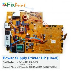 Power Supply HP Laserjet P3005 M3025 M3027 M3035 DC Controller Used, Power Board Part Number RM1-4038 RK2-1475 Used