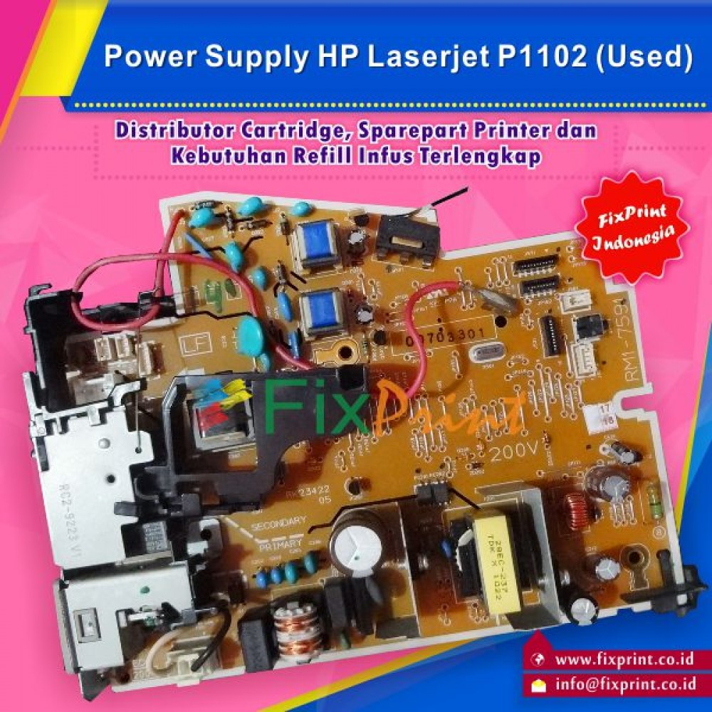 Power Supply Printer HP Laserjet Pro P1102 DC Controller Used, Power Board Part Number RM1-7591-000