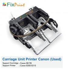 Carriage Unit Canon PG88 CL98, Main Carriage Printer Canon E510 E500 Bekas Like New