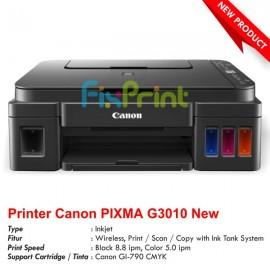 (Mesin) Printer Canon PIXMA G3010 Wireless (Print - Scan - Copy) Tanpa Tinta New
