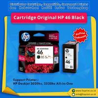 Cartridge Original HP 46 Black CZ637AA, Tinta Printer HP Deskjet 2020hc 2520hc All-in-One