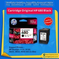 Cartridge Original HP 680 Black F6V27AA, Tinta Printer HP Deskjet 1115 2135 3635 3835 4535 All-in-One