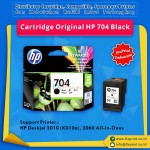 Cartridge Original HP 704 Black CN692AA, Tinta Printer HP Deskjet Ink Advantage 2010 (K010a) 2060 All-in-One