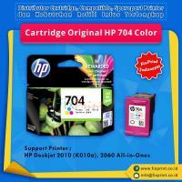Cartridge Original HP 704 Color CN693AA, Tinta Printer HP Deskjet Ink Advantage 2010 (K010a) 2060 All-in-One