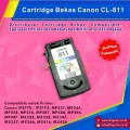 Cartridge Tinta Bekas Canon CL811 CL-811 CL 811 Color, Cartridge Printer Canon iP2770 iP2772 MP237 MP245 MP258 MP268 MP276 MP287 MP486 MP496 MP497 MX328 MX338 MX347 MX357 MX366 MX416 MX426 Bekas