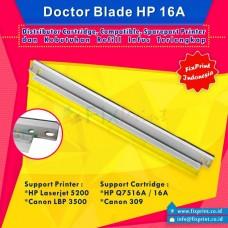 Doctor Blade HP Q7516A 16A Canon 309, Printer HP Laserjet 5200 Canon LBP 3500