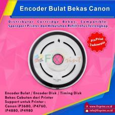Encoder Bulat Canon iP3680 3680 iP4760 iP4880 iP4980 Bekas Like New, Timing Disk Printer IP-3680