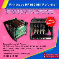 Head Printer HP 950 951 Refurbish, Printhead HP Officejet Pro 8100 8600 8700 8610 8620 8625 8630 8640 8660 8615 251DW 251 276DW 276