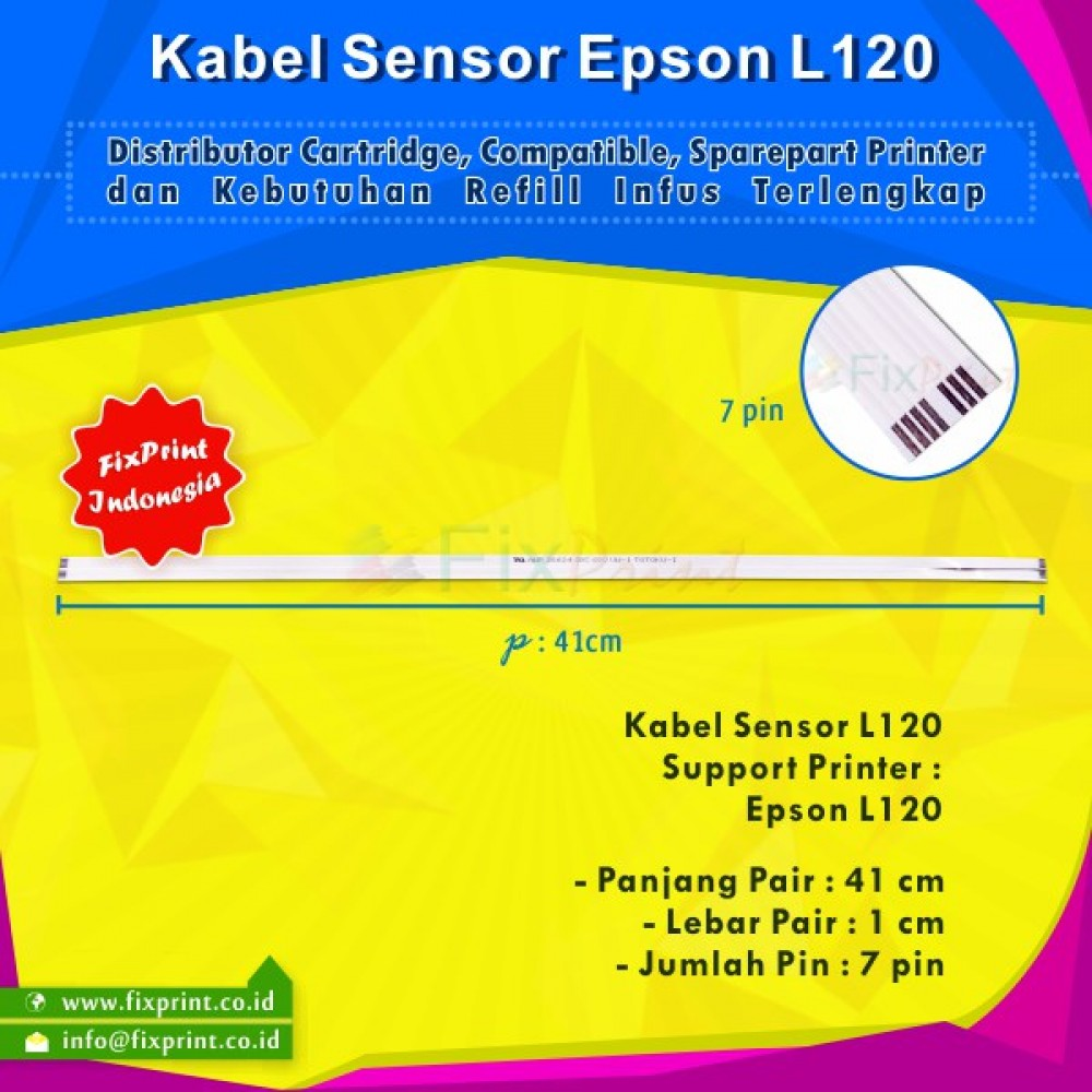 Kabel Sensor Epson L120, Sensor Cable Printer Epson L120 New (Tanpa Kabel Head)
