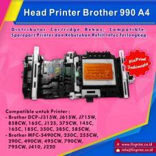 Head Printer Brother 990 A4 Brother DCP-J125 315W J140W J615W J715W 858CW 165C 375CW 145C 165C 185C 350C 385C 585CW MFC-5490CN 250C 255CW 290C 490CW 495CW 790CW 795CW J410 J220 Original, Printhead Brother DCPJ125