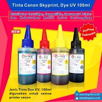 Tinta Refill Canon Skyprint Black 100ml, Tinta Dye Base Canon Tutup Model Kerucut