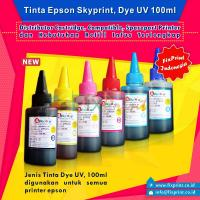 Tinta Refill Epson Skyprint Light Cyan 100ml, Tinta Dye Base Epson Tutup Model Kerucut