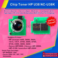 Chip Cartridge HP U38B Q6000 124A 314A Q7560A Q6470A Q5950A Q6460A Black Universal, Printer HP Laserjet 1600 2600 2600n 2605 2605dn 2605dtn CM1015 CM1017 3000 3600 4700 4730