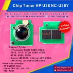 Chip Cartridge HP U38Y Q6002A 124A 314A Q7562A Q6472A Q5952A Q6462A Yellow Universal, Printer HP Laserjet 1600 2600 2600n 2605 2605dn 2605dtn CM1015 CM1017 3000 3600 4700 4730