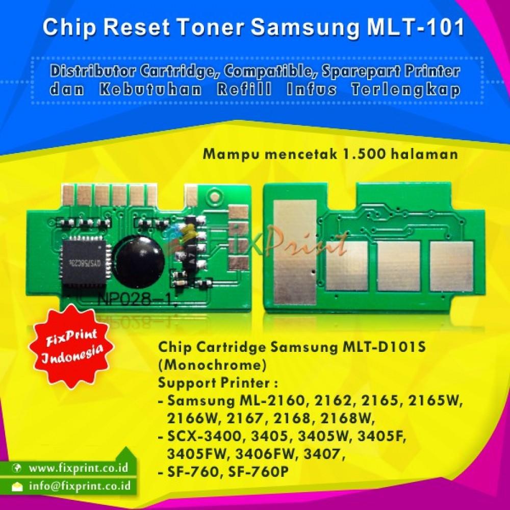 Chip Samsung MLT-101 MLT-D101S, Chip Reset MLT-101 Printer Samsung ML-2160 ML-2162 ML-2165 ML-2165W ML-2166W ML-2167 ML-2168 ML-2168W SCX-3400 SCX-3405 SCX-3405W SCX-3405F SCX-3405FW SCX-3406FW SCX-3407 SF-760 SF-760P