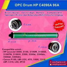 OPC Drum Toner Cartridge HP 96A C4096A Canon L-50 FX-7, Printer HP Laserjet 2000 2100 2200