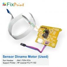 Sensor Dinamo Motor Printer HP Laserjet Pro P1102 P1102w + Kabel Flexible Used, Part Number RM1-7594 PCA
